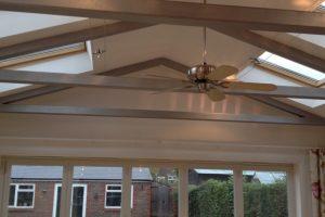 100 X 100 SHS roof trusses.