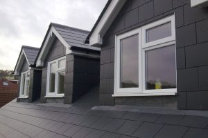3 identical pitched roof dormers