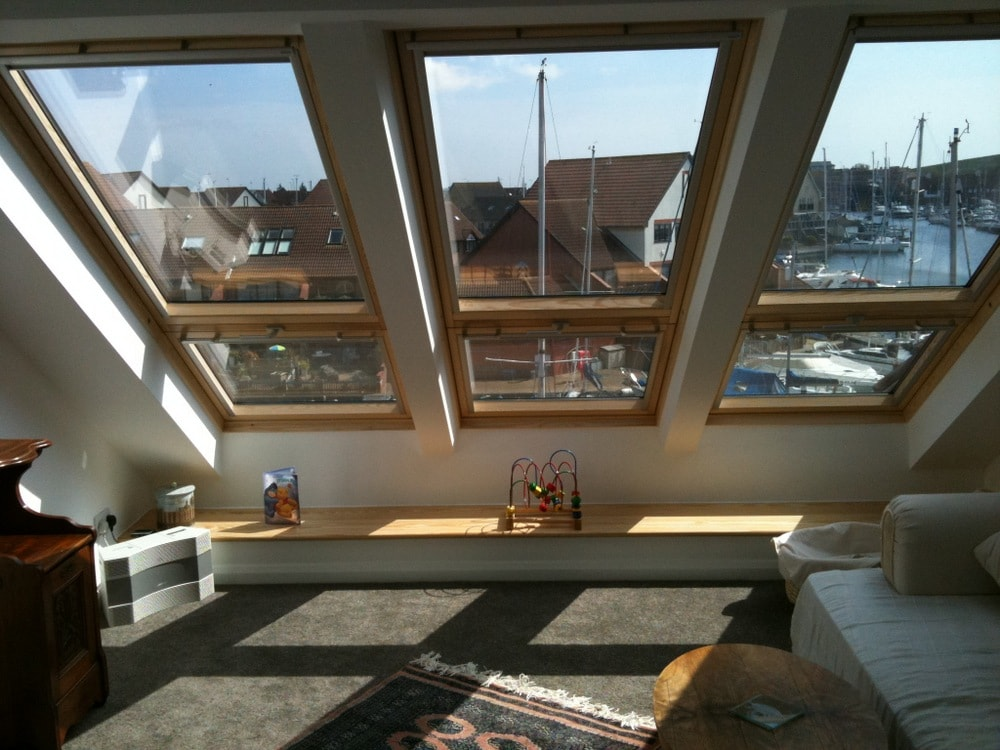 Velux Cabrio Balcony installed to a loft conversion in Portsmouth Port Solent