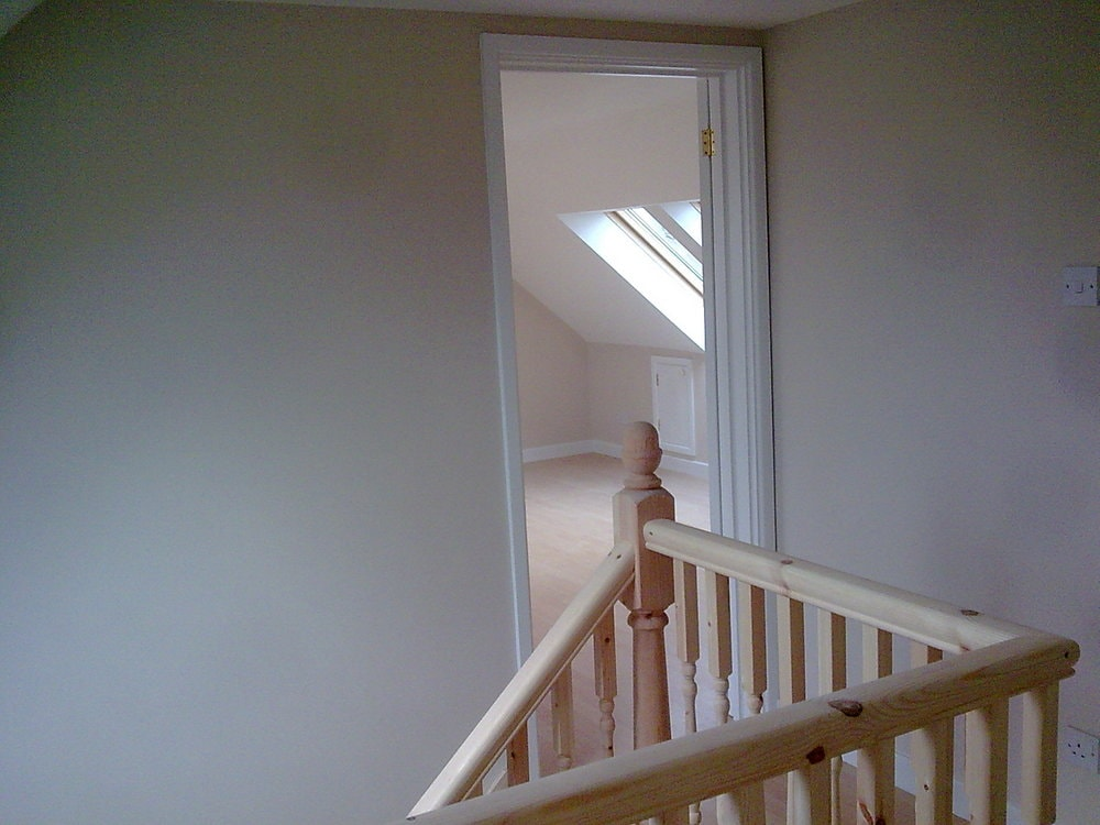 staircase landing to a bungalow loft conversion