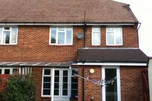 rear view of semi-detached house in Portsmouth. Before loft conversion day 1 of case study 4