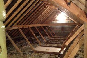 Before loft conversion inside.