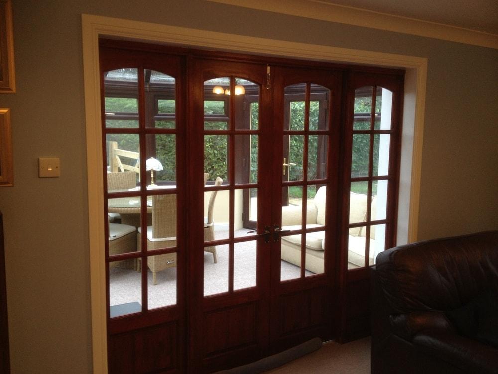 Bi-fold doors conservatory bungalow