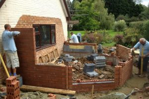 Brickwork underway-