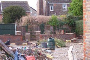Brickwork underway.