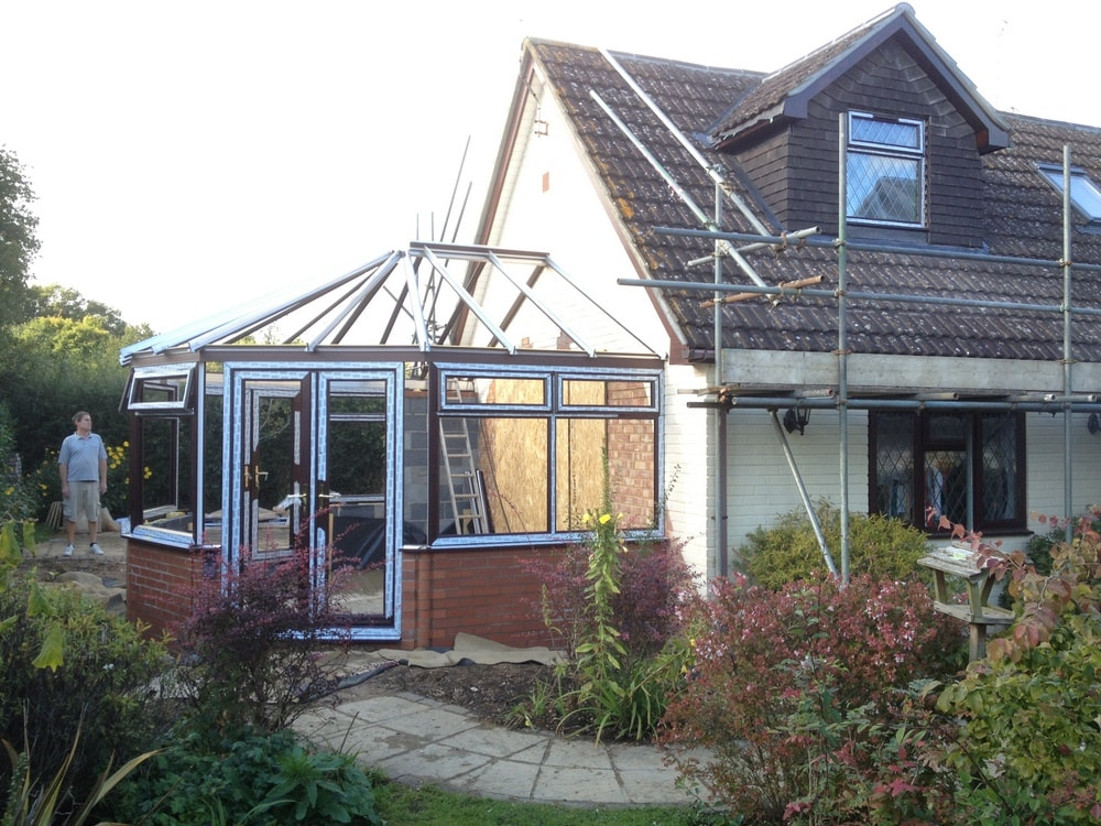loft conversion and conservatory