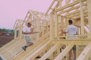dormer windows constructed with 4 x 2 timber