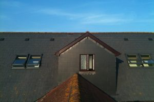 Dormer and bedroom either side