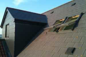 Slate roof pitch dormer to loft conversion