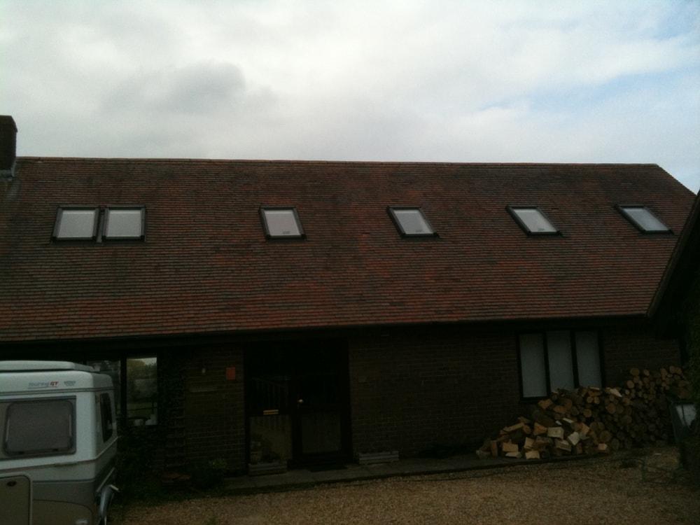 Velux windows to a bungalow loft conversion