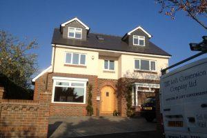 detached property with loft conversion