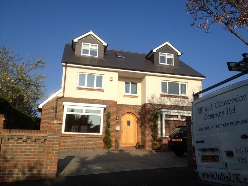 detached property with loft conversion
