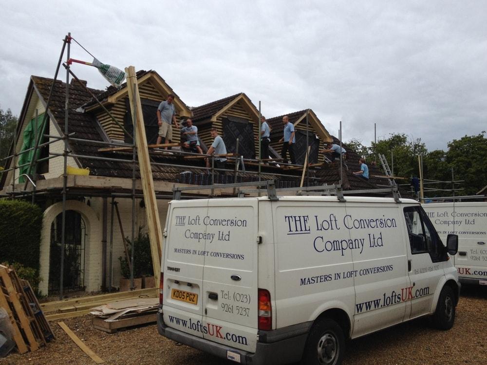 Detached bungalow loft conversion