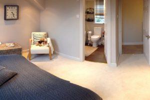 Interior of loft conversion finished, 1 bedroom with en-uite shower room.