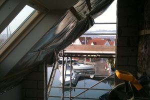 Gable wall removed