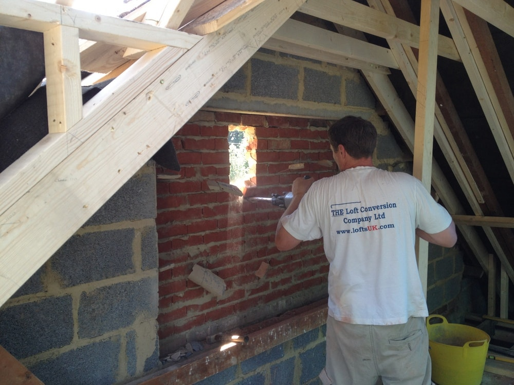 gable wall French doors loft conversion