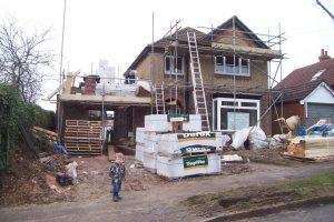 Ground floor brickwork finished