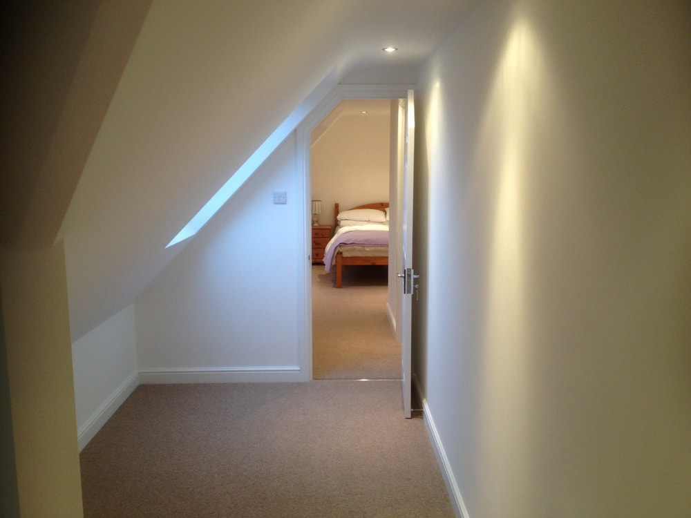 hall way to a loft conversion on a bungalow