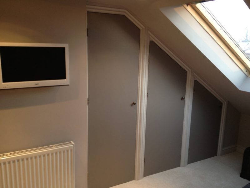 Cupboards to a loft conversion in Portsmouth.