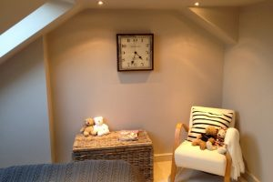 Bedroom in new loft conversion