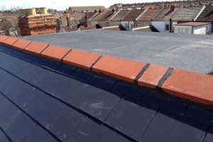 top of flat roof dormer to a loft conversion