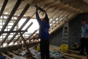 construction of dormer window to a loft conversion