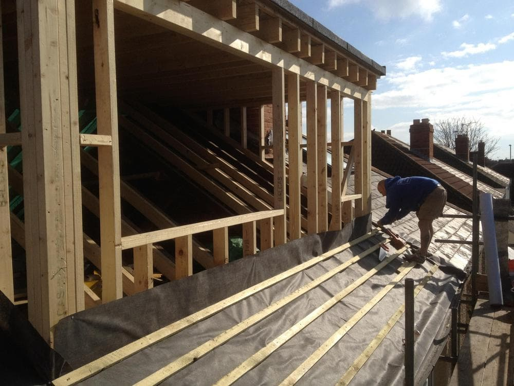 Dormer construction to a semi-detached house loft conversion