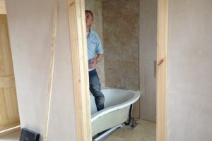 tiling to bathroom loft conversion