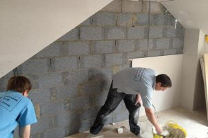 gable wall and plasterboard to a loft conversion