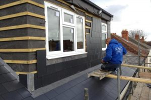 flat roof dormer loft conversion slate
