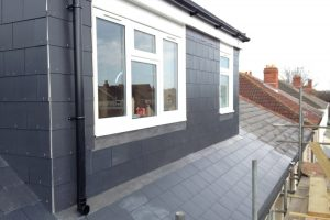 rear dormer slate to a semi detached house loft conversion