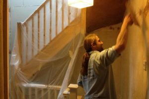 plastering a loft conversion under staircase