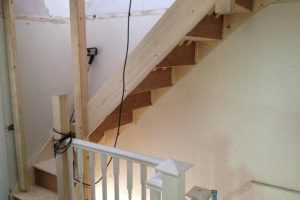 staircase to a loft conversion semi detached house