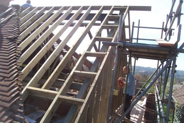 Loft Conversion gable wall construction