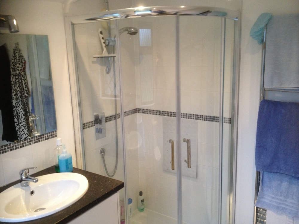 Shower room to a bungalow loft conversion