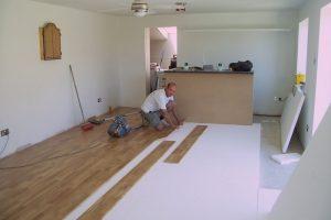 Oak engineered floor.