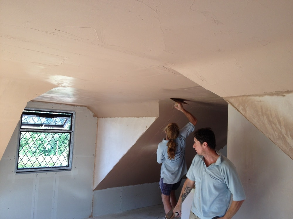 Plastering a loft conversion with dormer windows