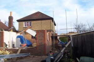 Rear extension brickwork