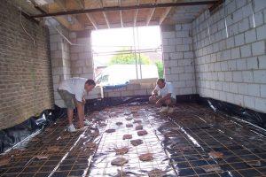 Reinforced concrete floor living room.