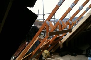 Remove roof section for dormer