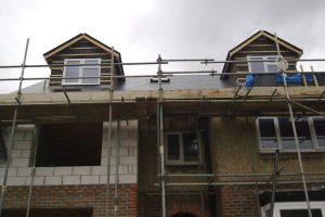 Front pitched roof dormers to loft conversion in Portsmouth. Side extension with 2 bedrooms