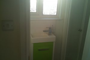 Shower suite in dormer