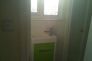 Shower suite in dormer