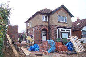 Side extension brickwork
