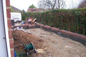 Side extension foundations & start of brickwork