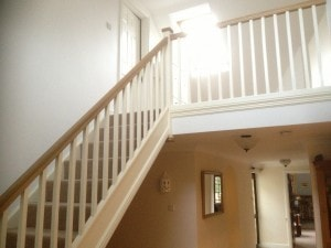 staircase leading up to a loft conversion bungalow case study 1