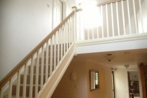 Staircase with Oak handrail
