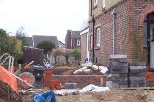 Start of brickwork