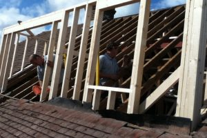 Start of dormer construction