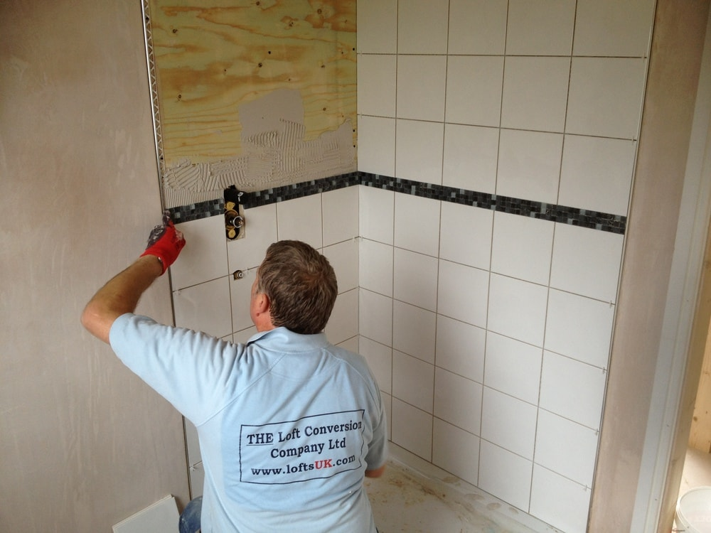 tiling to a loft conversion shower en-suite